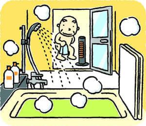 風呂場の事故防止…入浴の手順 見直してみる