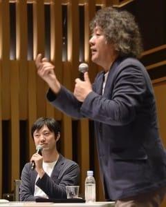 対談する石川善樹さん(左)と茂木健一郎さん(13日、よみうり大手町ホールで)