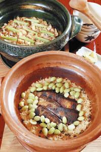 土鍋使い炊き込みご飯