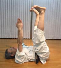同じく「毛管運動」。手足を小刻みにぷるぷる震えるように動かします。毛細血管を強化して血行を良くする、とされます。