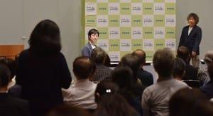 会場からの質問に耳を傾ける茂木さん(右)と石川さん(9月13日、よみうり大手町小ホールで)=秋元和夫撮影