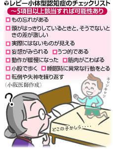 [認知症のはてな](10)レビー小体型、幻視が特徴