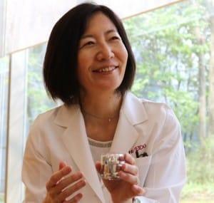 香りの生理効果研究に長年携る先端領域研究グループマネージャーの合津陽子さん
