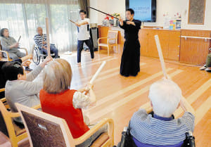 木剣体操エクササイズ(上)チャンバラ感覚で楽しく