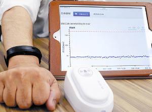 在宅患者の体調、24時間把握…リストバンド型端末が脈拍数を自動送信