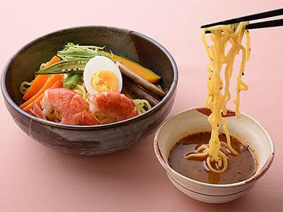 新北海道濃厚エビスープカレー風つけ麺