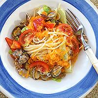 アサリとトマトのスープスパゲティ