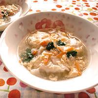 冷凍シューマイのかきたまスープ