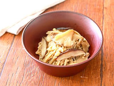 冷凍キノコの減塩ナムル