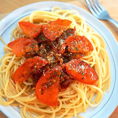 焦がしトマトスパゲティ