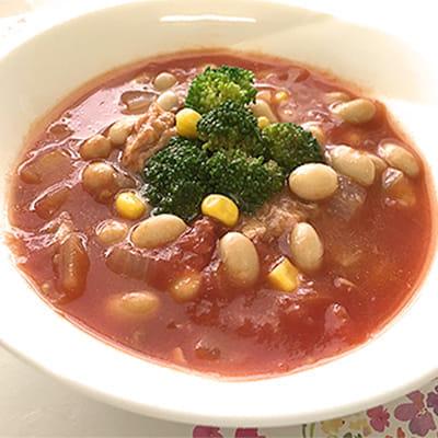 大豆ごろごろ健康スープ