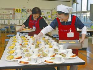 「朝食は学校で」児童の遅刻減少、集中力アップ…住民・企業が協力し広がり