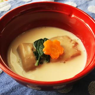 とろりとろけるゴマ豆腐「ゴマ豆腐の豆乳汁」