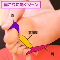 足指の付け根をこすって「肩の荷」を下ろす