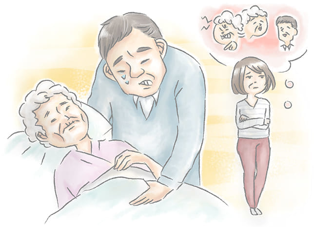 嫁いびりが酷かった義母が他界 後を追って首をつろうとした54歳夫に、妻が放った言葉は…