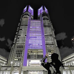 「世界糖尿病デー」、都庁舎が青にライトアップ