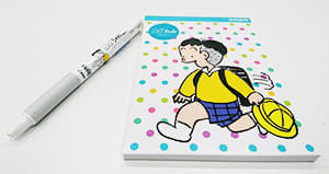 コボちゃんのメモ帳とボールペン