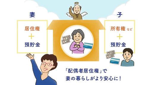 知ってますか? 夫亡き後の妻を守る「配偶者居住権」が創設されました!