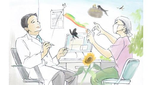 診察室で病気や治療に関係ないことを話してもいいんですか?