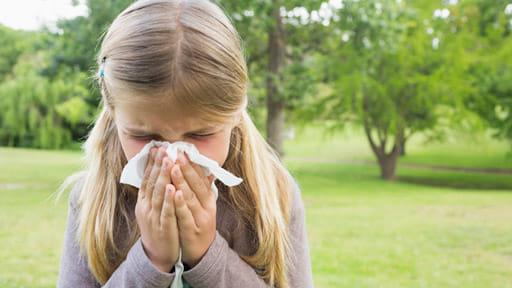 9歳時のアレルギー陽性率は約75%