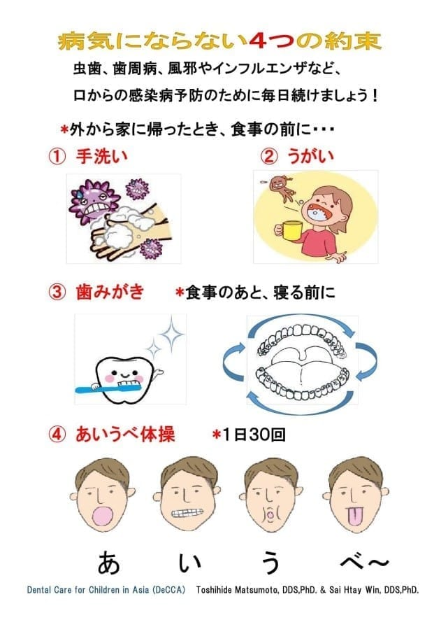 4つの約束の日本語版チラシ