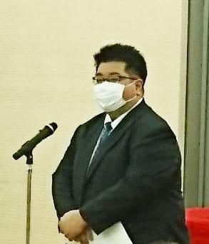認知症保険の紹介などを行った太陽生命保険の菊池慶三・大阪支社長