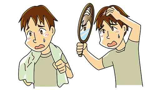 新型コロナの後遺症 発症120日後でも 「脱毛」も2割以上に
