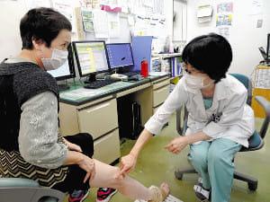 下肢静脈瘤<2>細い血管 薬注射し固める