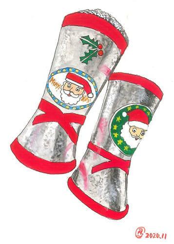 サンタさん くれたブーツは お菓子入り
