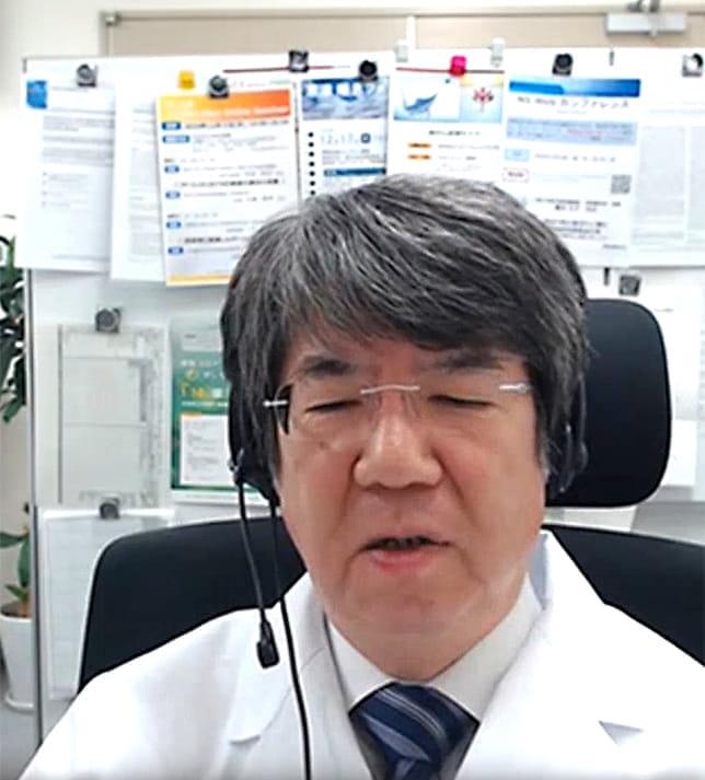 オンラインでインタビューに答える高山浩一さん