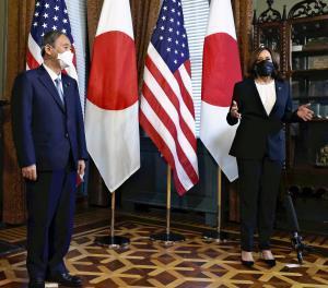 「世界団結の象徴に」菅首相の五輪開催への決意、ハリス副大統領が支持