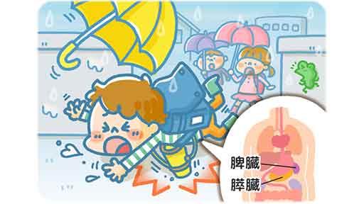 走って登校中に転倒した7歳男児 肩がけの水筒ですい臓損傷、半分切除…腹部への外力は臓器に到達する
