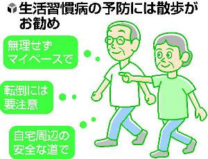 幸福長寿のすすめ(3)大病予防へ 減塩・散歩