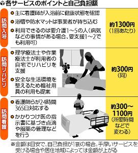 看護師ら 専門的サービス…訪問入浴・リハビリ・看護