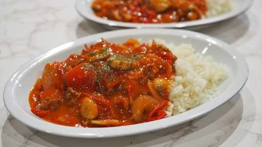 完熟トマトのハヤシライス…トマトが一番おいしくなる時期