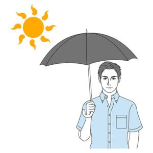 梅雨明け熱中症に注意! 日傘で頭髪温度は10度下がる…男子も持ち歩こう