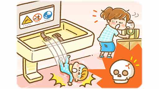 トイレのおむつ交換台から転落 4か月の赤ちゃんが頭がい骨骨折…事故多発の原因は本当に「不注意」なの?