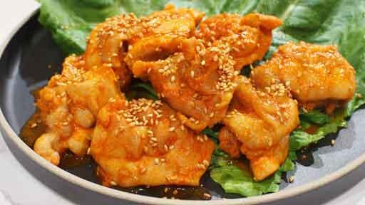 韓国風ピリ辛チキン…「コチュジャン」とニンニク、ショウガを使ったピリ辛味