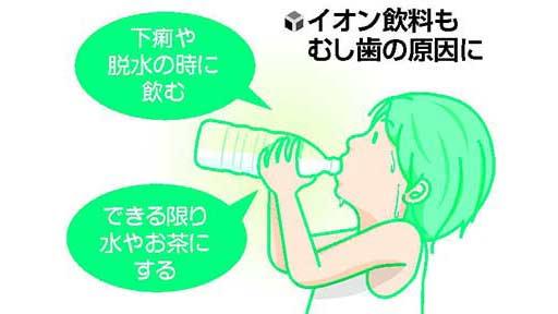 口の中の健康(4)イオン飲料 糖分に注意