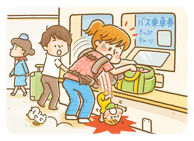 財布を出そうと前かがみ 抱っこひもから赤ちゃん転落…外傷性くも膜下出血で救急搬送