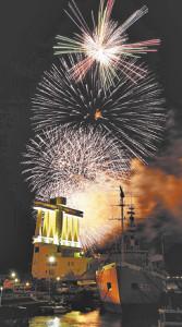 コロナ禍でみなと祭中止、収束願い込め「サプライズ花火」