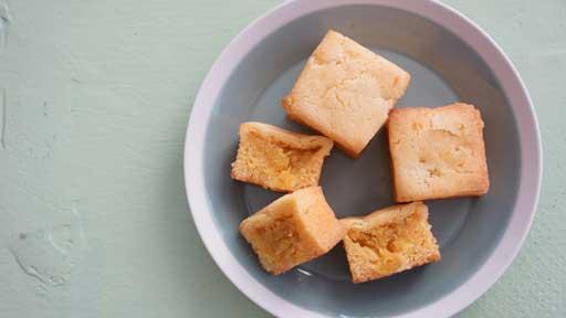 パイナップルケーキ…好き嫌いの改善や旬の食べ物を知る目標