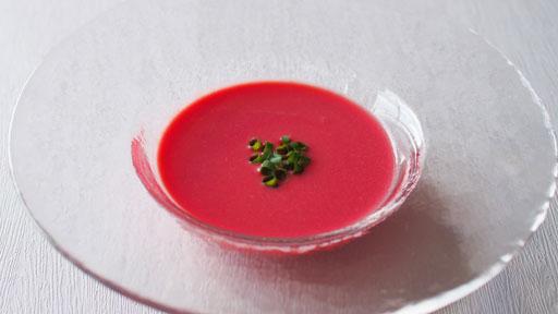 ビーツのポタージュスープ…ビタミン、ミネラルが豊富「食べる輸血」
