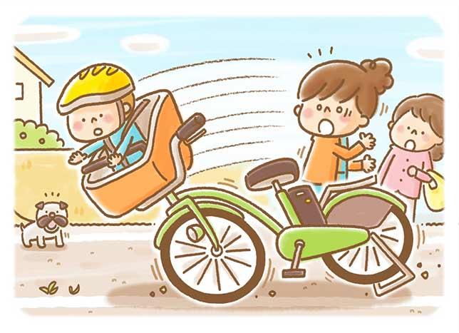 子どもを乗せたままスタンドを立て…搬送の8割は「停車中」の事故 増える電動アシスト自転車の転倒