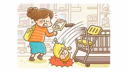 ショッピングカートから落ちた1歳8か月女児 急性硬膜外血腫で救急搬送…深刻な事態につながる「高さ」