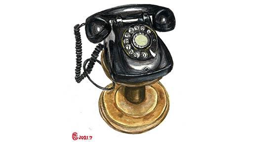 呼び出しで 電話を借りに ご近所へ