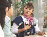 治療が一段落して、テレビ出演で元気な顔を見せる山田邦子さん(東京・渋谷のNHKで)
