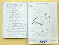 山田さんの闘病ノート。治療の経過が克明に記されている