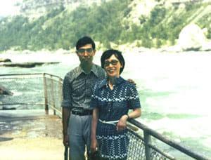 海外留学時はもちろん、出張にも夫婦同伴(1977年、カナダ・トロントで)