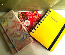 こうした小さなノートに記録しています